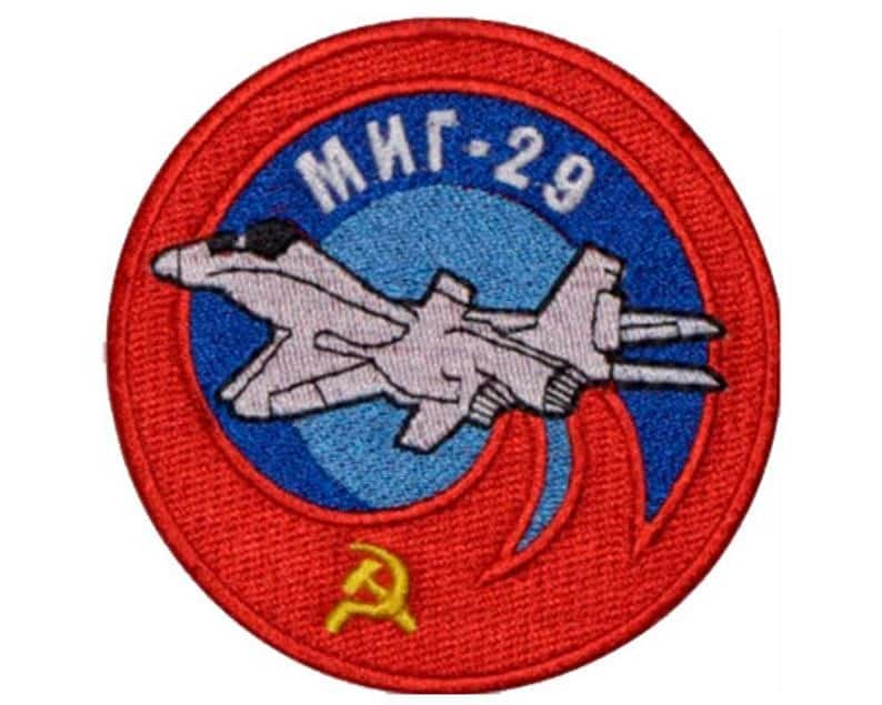 MIG-29 Soviet Russian Jet Plane Fighter Embroidered