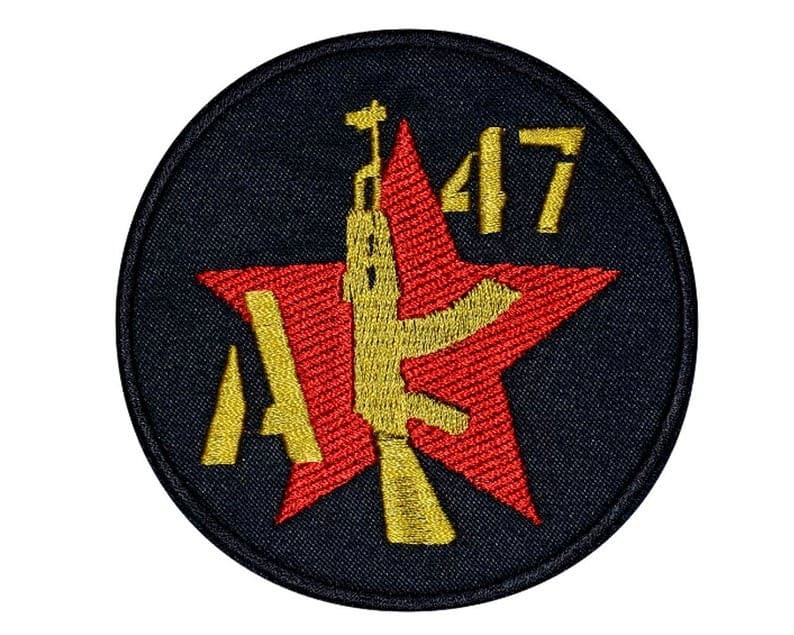 """""""AK-47"""" Embroidered Weapon USSR Red Star"""