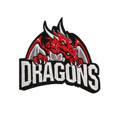Red Dragon Fire Embroidered