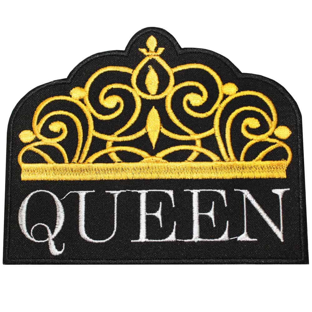 Queen Crown Grey Embroidery