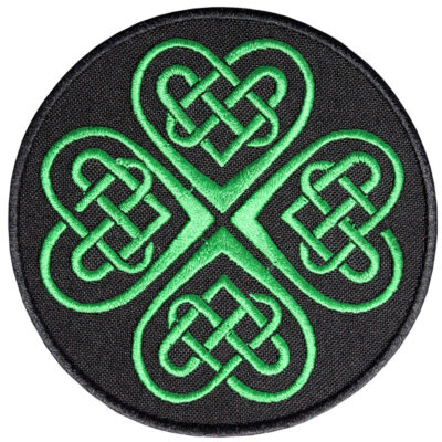 Celtic Green embroidered ornament Sleeve gift patch mythology