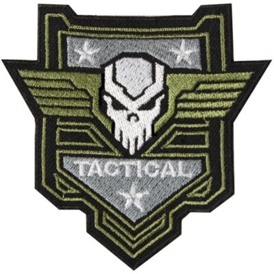 Airsoft SF Skull Tactical Embroidered Sew-on / Iron-on / Velcro Patch