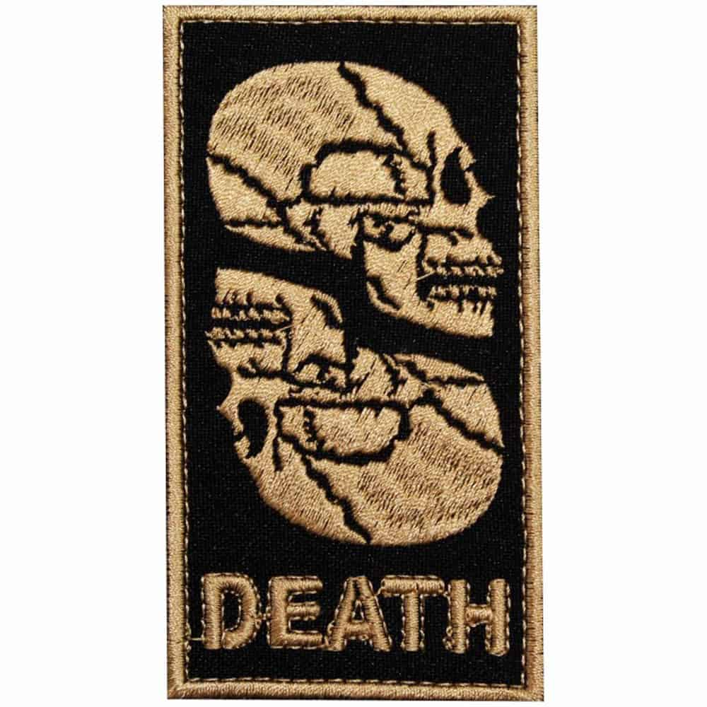 Airsoft Game Skull Death Embroidered Sew-on / Iron-on / Velcro Patch