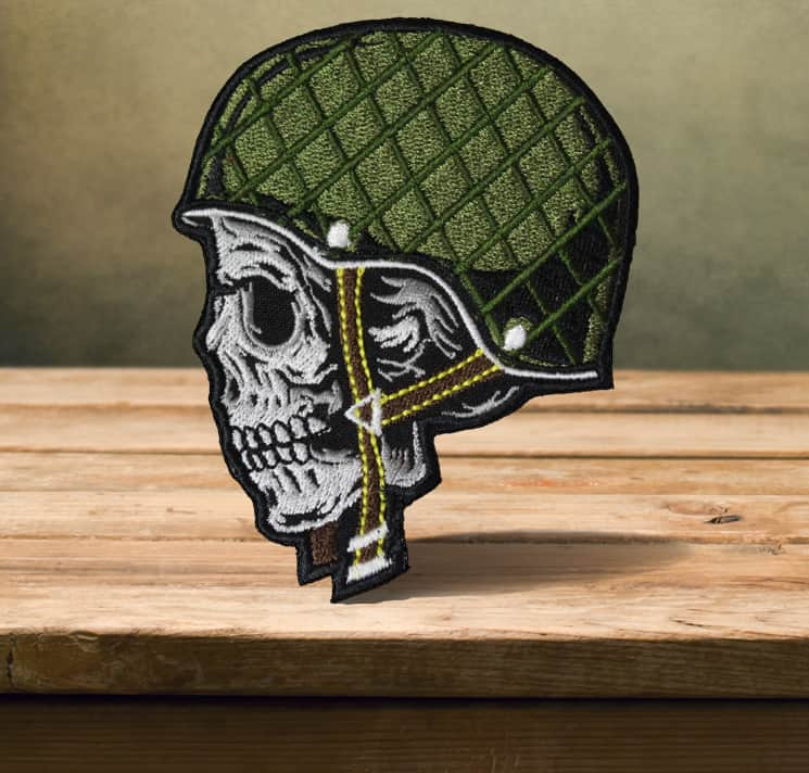 Military Skull in the Helm