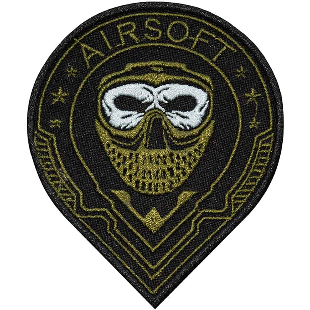 Airsoft Soldier Face Embroidered Sew-on / Iron-on / Velcro Patch