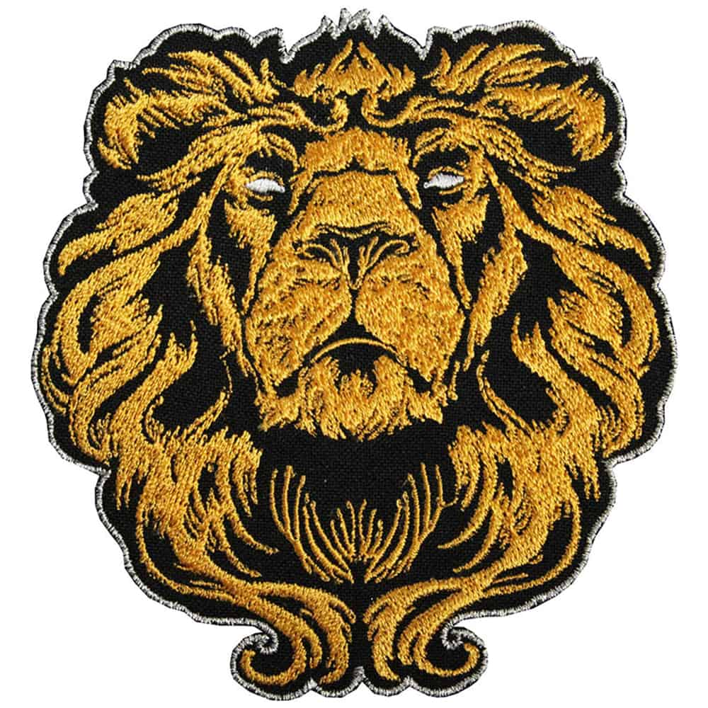 Lion King of beasts Embroidered
