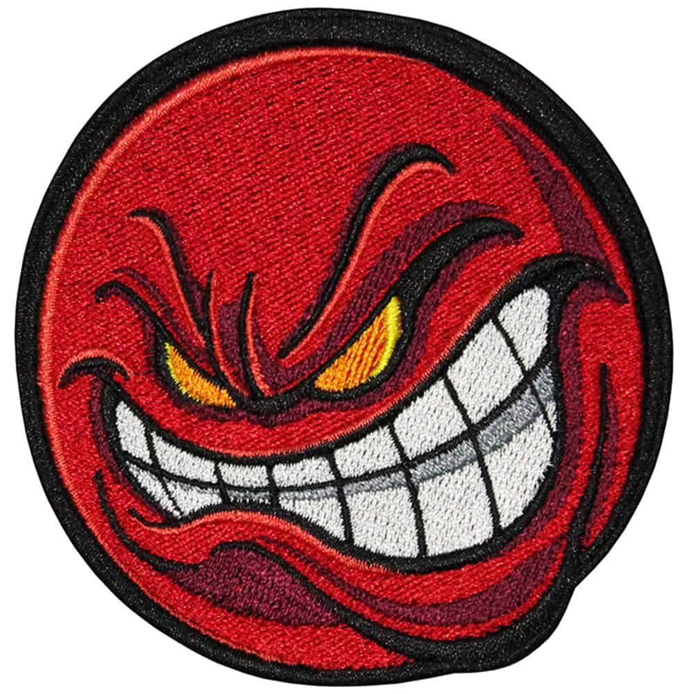 Angry Smile Embroidered