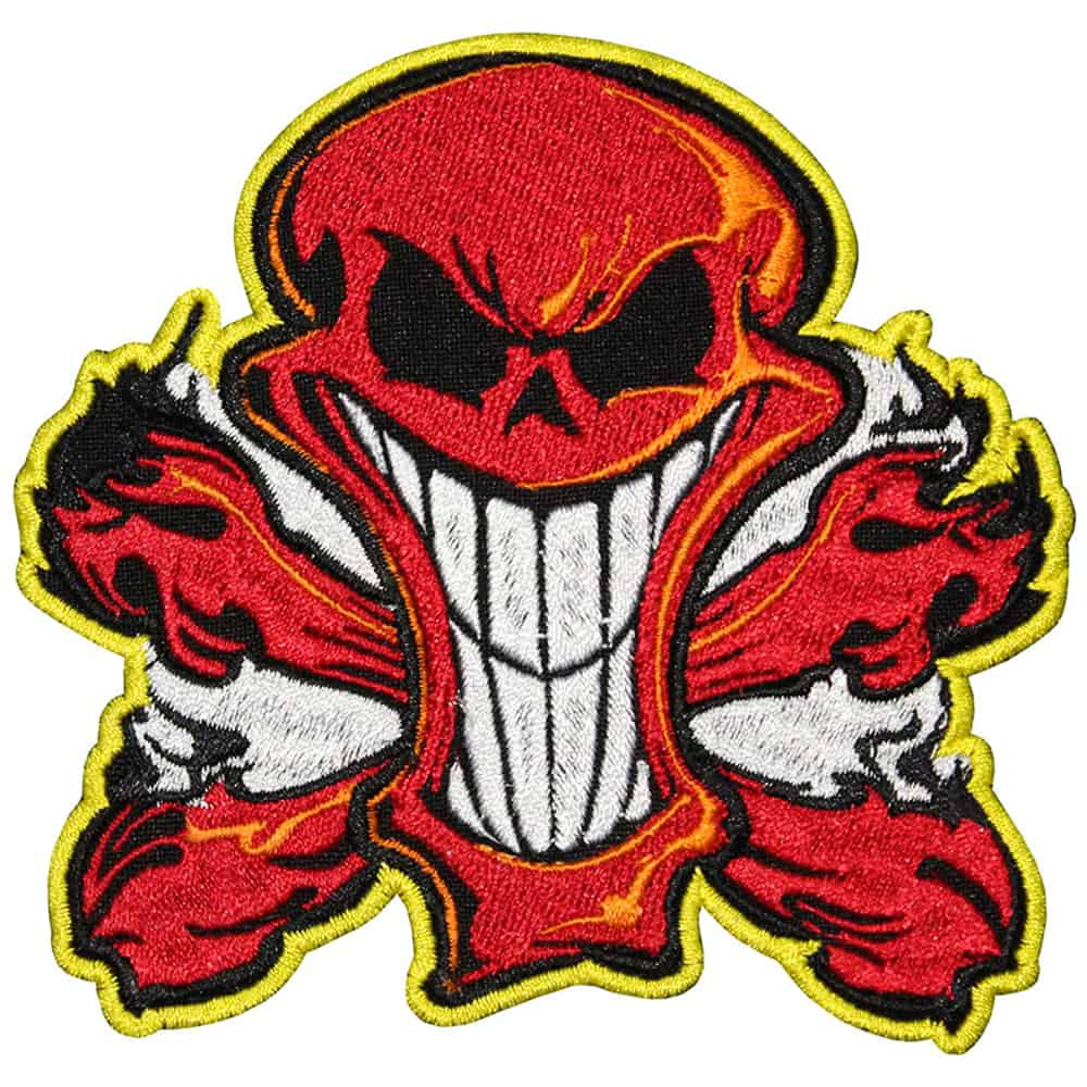 Red Skull Embroidered