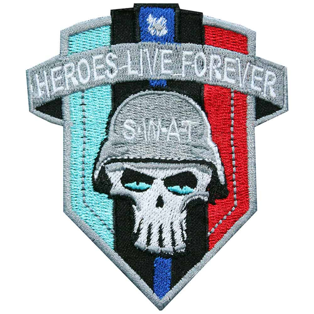 """SWAT """"Heroes Live Forever"""" Embroidered Sew-on / Iron-on / Velcro Patch"""