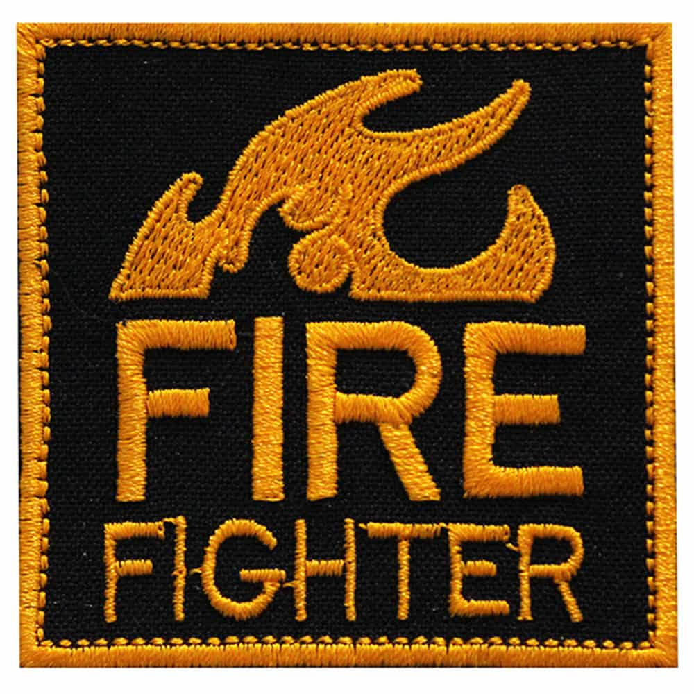 Fire Fighter Airsoft Logo Embroidered Sew-on / Iron-on / Velcro Patch