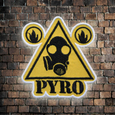 Team Fortress 2 Pyro Gas Mask embroidered patch Sew-on / Iron-on / Velcro TF2 gift